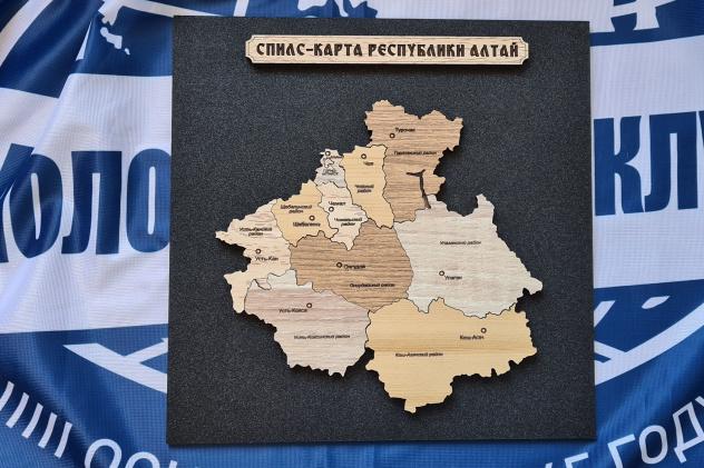 Спилс-карта Республики Алтай.