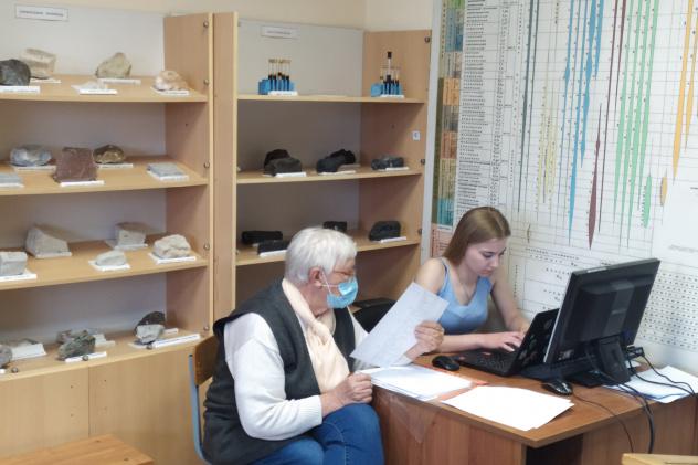 Работа по систематизации экспозиционной коллекции геологического музея