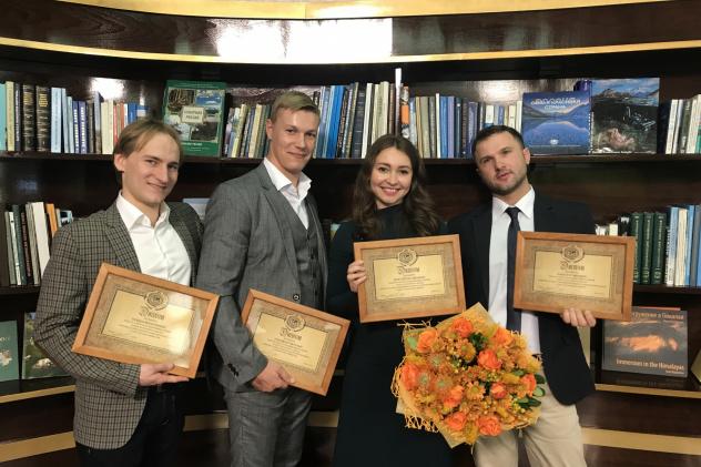 Победители конкурса на присуждение молодёжных Именных стипендий за успехи в научной, образовательной и общественной деятельности.