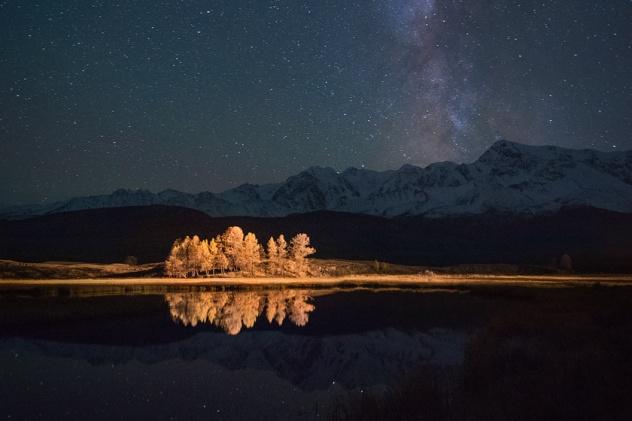 Горный Алтай. Озеро Джангызколь.