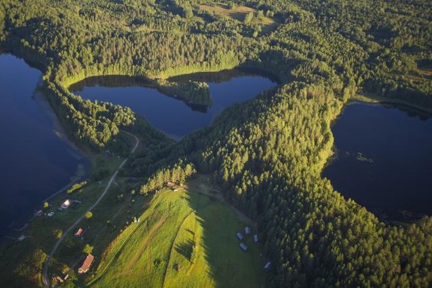 Масельга. Озеро Синее.