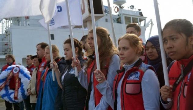 Участники «Арктического плавучего университета - 2016