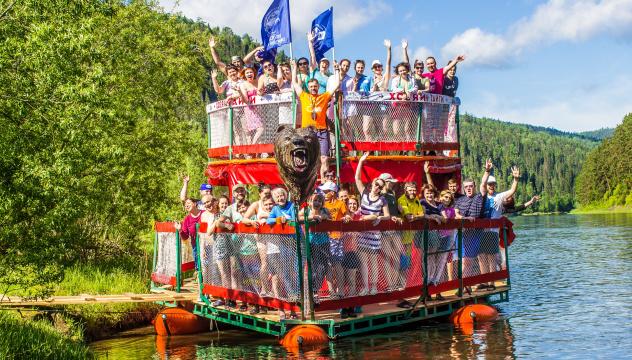 Ежегодный сплав молодежного клуба по горной реке Мана