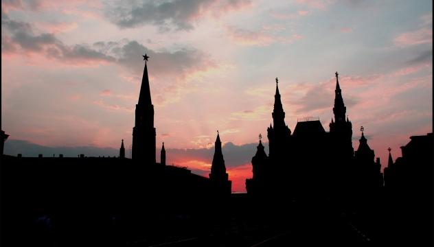 Красная площадь на закате